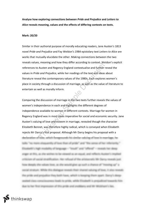pride and prejudice letters to alice essay on connections 20 20 pride and prejudice letters to alice essay on connections between texts revealing