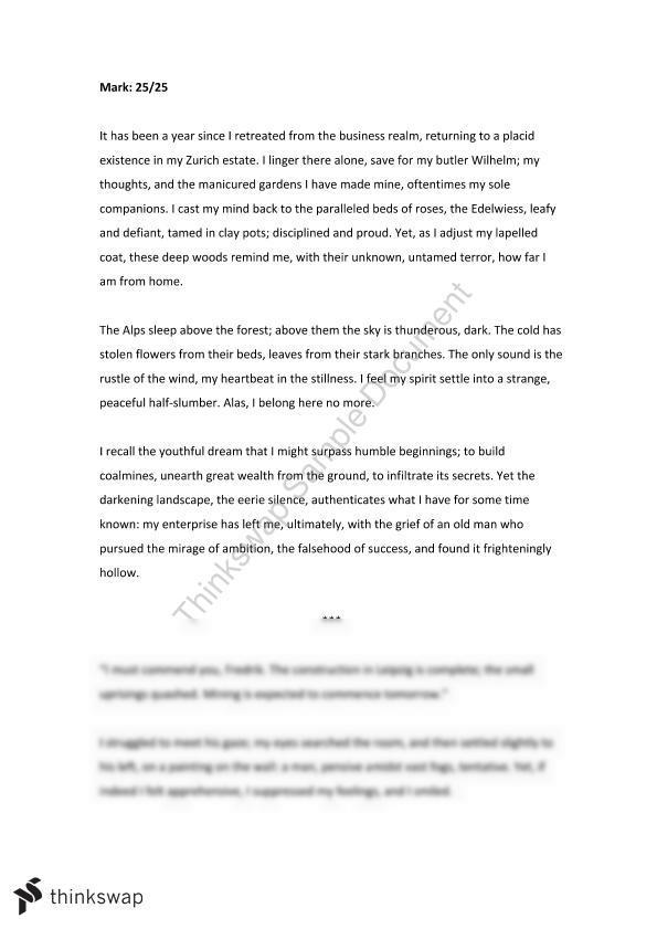 Extension 1 english creative writing romanticism