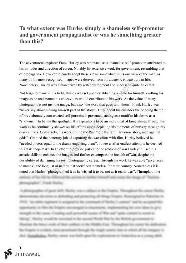 frank hurley essay