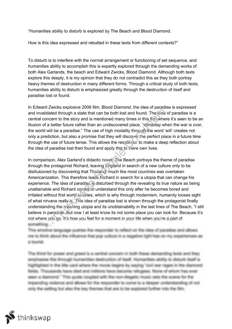 My Country Sri Lanka Essay English Comparative Essay On The Beach And Blood Diamond  Conflict Topics For A Proposal Essay also Research Proposal Essay Topics Comparative Essay On The Beach And Blood Diamond  Conflict  Year  Thesis Statement Essay