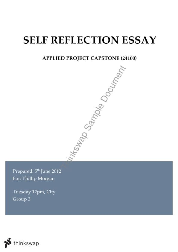 reflection of group project essay Group presentation reflection our group divided up the material based on section in the book persuasive essay proposal.