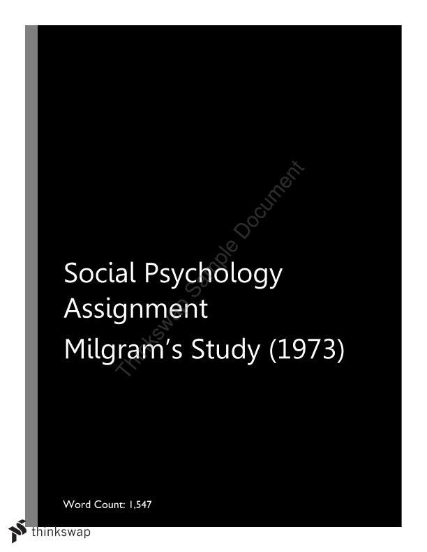 psychology assignment topics