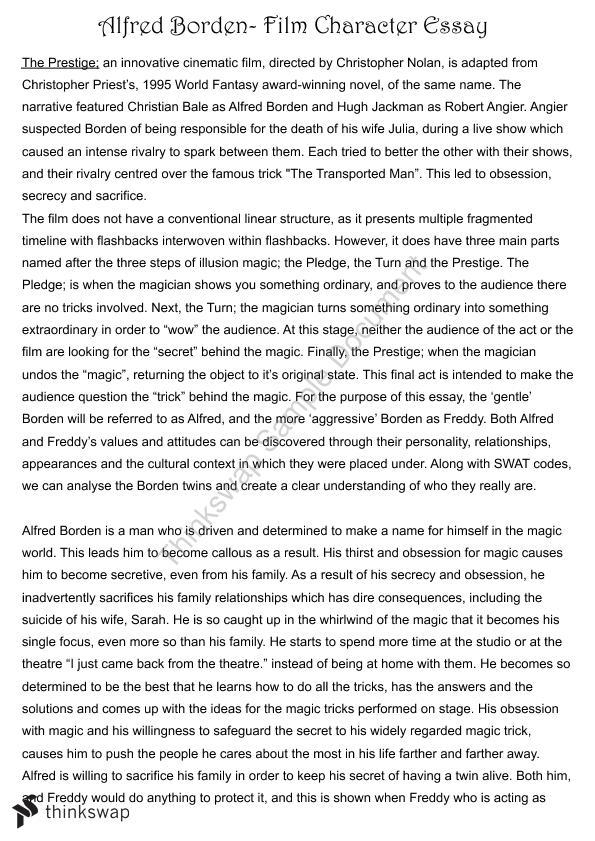 The prestige essay