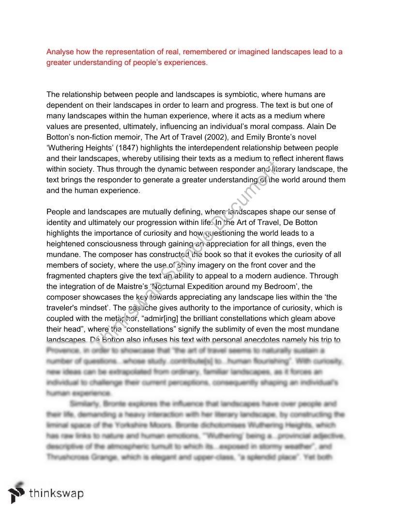 band module c people and landscapes art of travel wuthering  band 6 module c people and landscapes art of travel wuthering heights essay