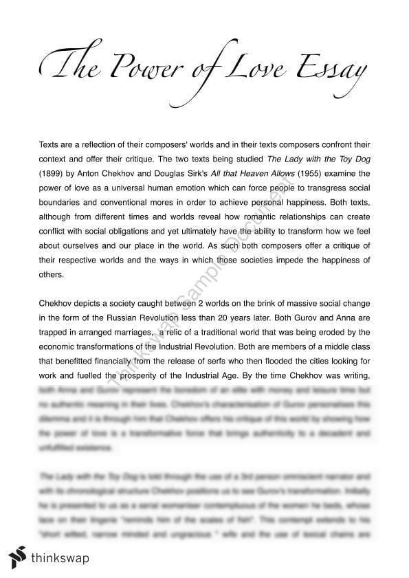essay love