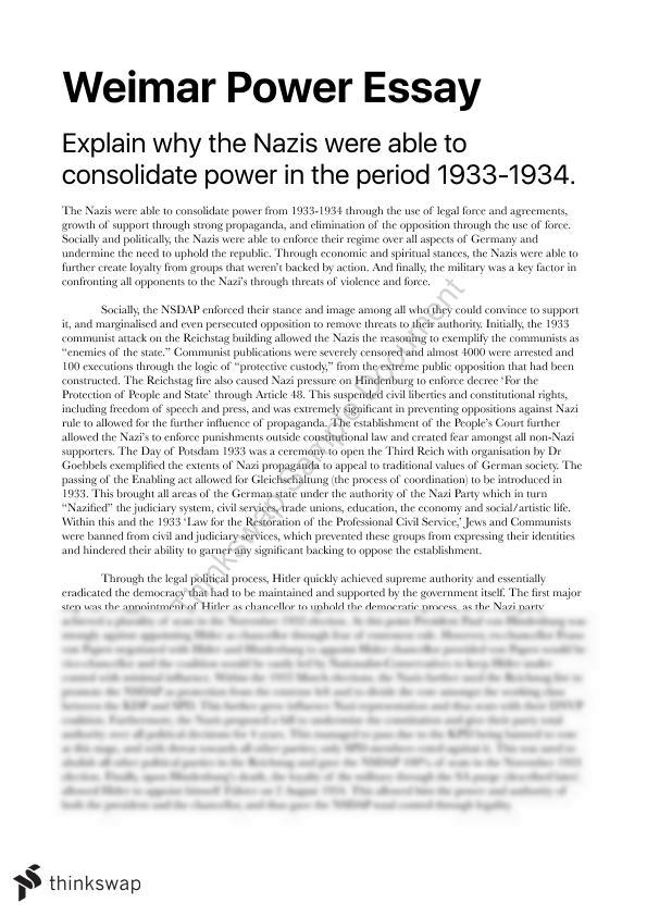 hitlers consolidation of power