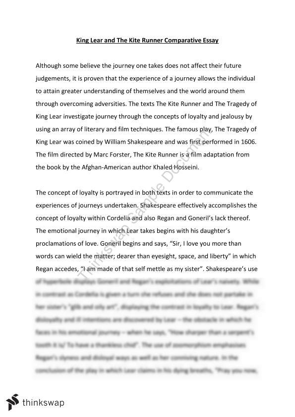 Example Of Debate Essay The Kite Runner Essay Journeys King Lear The Kite Runner Year  Hsc  Vietnam Culture Essay also Essay On Martin Luther King Jr Kite Runner Essay  Underfontanacountryinncom Royal Essays