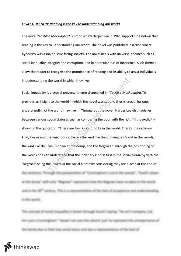 An Essay On To Kill A Mockingbird