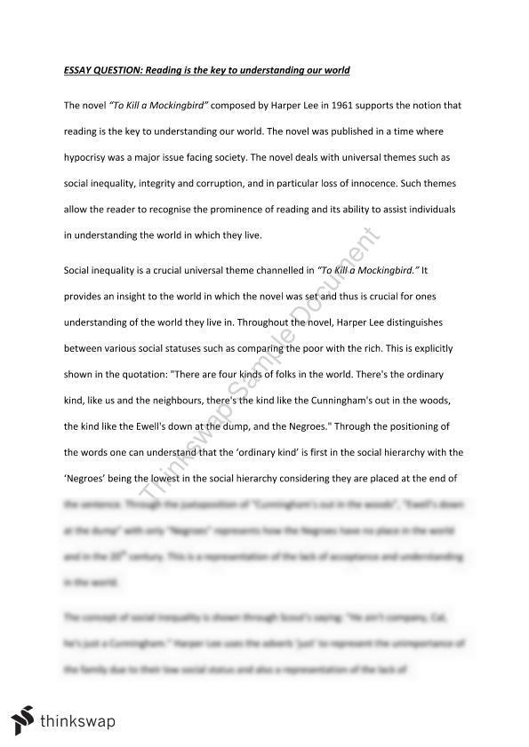Essay notes on to kill a mockingbird