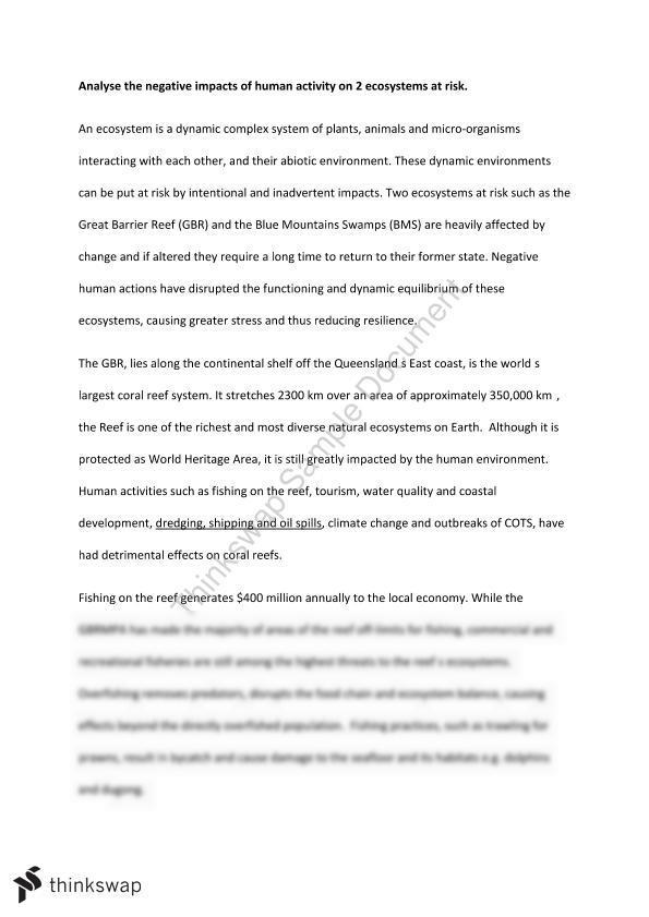 human impact on climate change essays