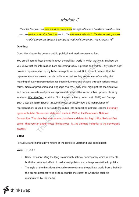 advanced english module c wag the dog essay plan year hsc  advanced english module c wag the dog essay plan