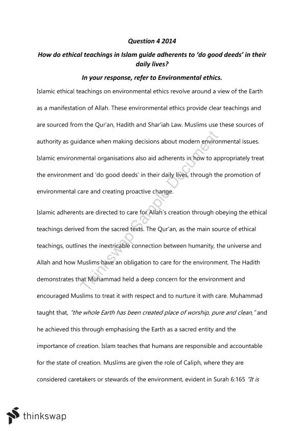 studies of religion ii environmental ethics islam essay year  studies of religion ii environmental ethics islam essay