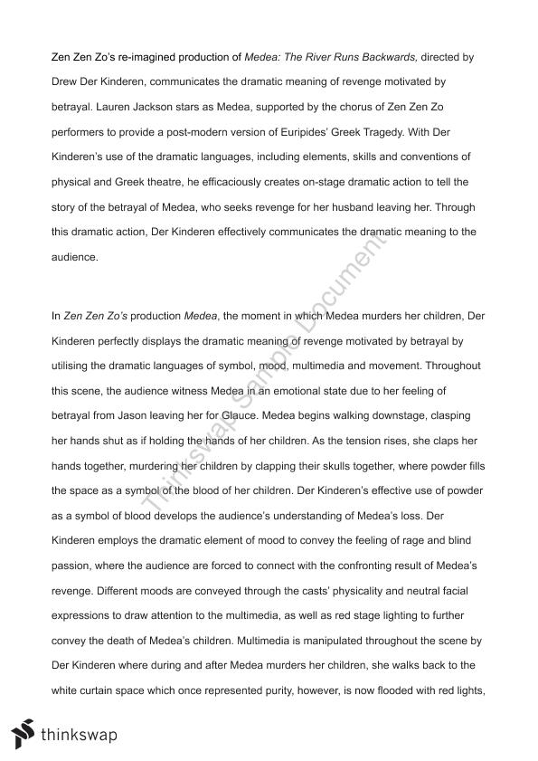 Informative Synthesis Essay Medea Essay Topics Medea Year  Qce Drama Spanish Final Reflections  History Of English Essay also Thesis For A Narrative Essay Medea Essay  Barcafontanacountryinncom Business Essay Structure