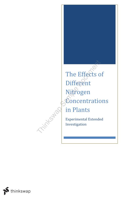 effect of nitrogen on plant growth