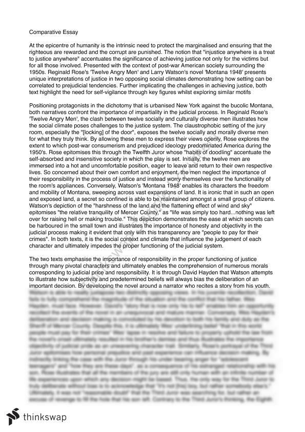 angry men and montana comparative essay year vce  comparative essay 12 angry men and montana