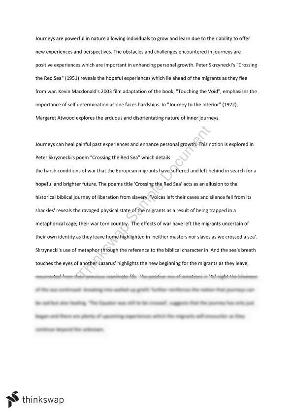 The Yellow Wallpaper Critical Essay Personal Journey Essay Journeys Aos Essay Year  Hsc English  What Is A Thesis In An Essay also High School Senior Essay Personal Journey Essay  Barcafontanacountryinncom Proposal Argument Essay