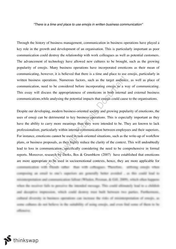 MGMT1001 Essay : EMOJI