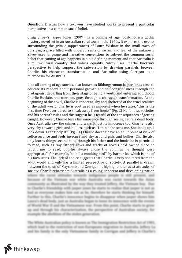 jasper jones essay
