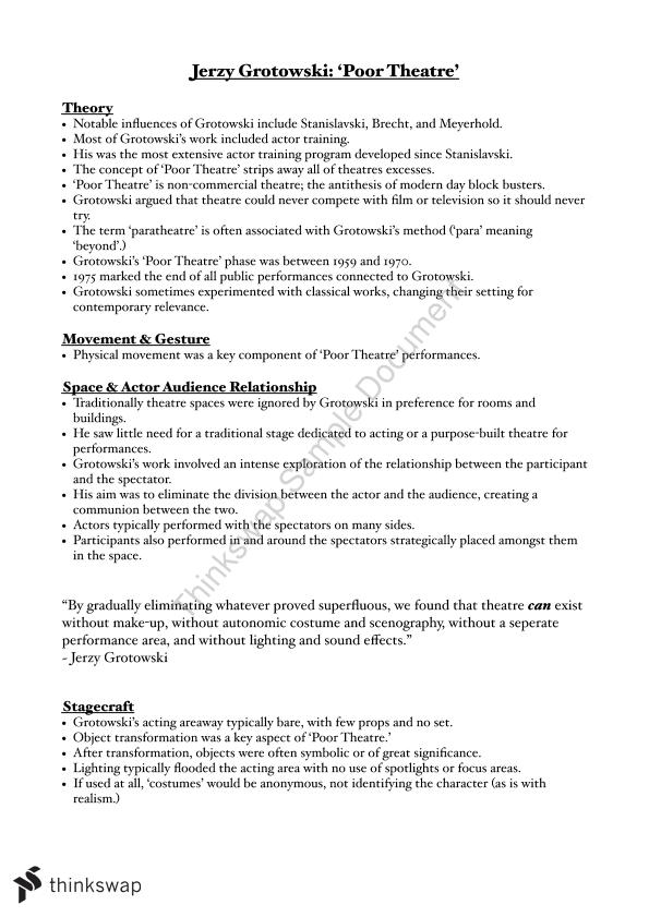 Drama - Practitioners Assignment | Year 11 VCE - Drama | Thinkswap