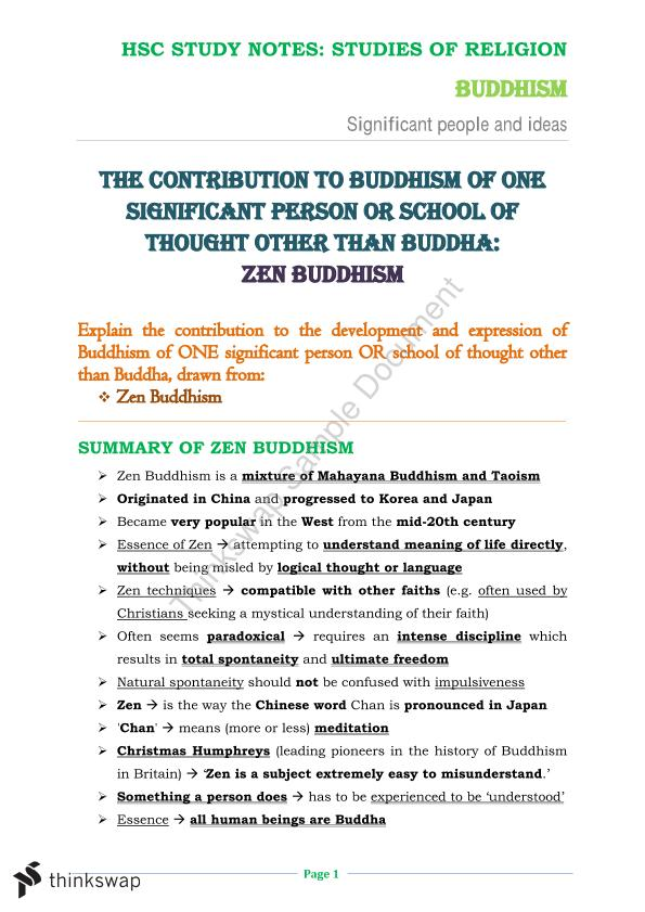 Religion study notes