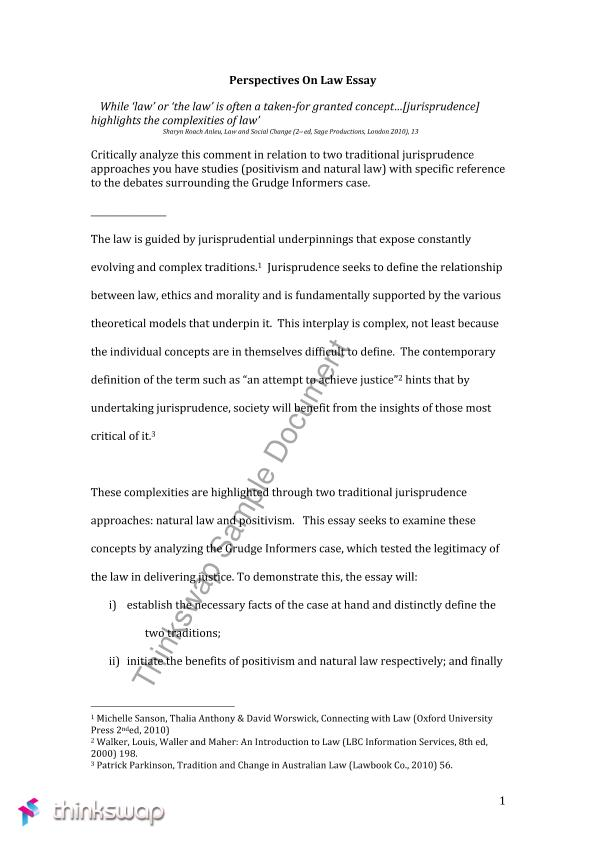 Jurisprudence Essay    Perspectives On Law  Thinkswap Jurisprudence Essay How To Write A Research Essay Thesis also The Yellow Wallpaper Essay  Science And Technology Essays