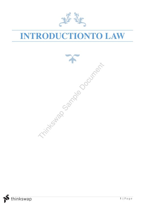 Introduction to Law Notes 200006