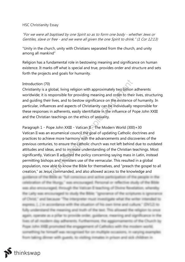 hsc christianity essay year hsc studies of religion i  document screenshots hsc christianity essay