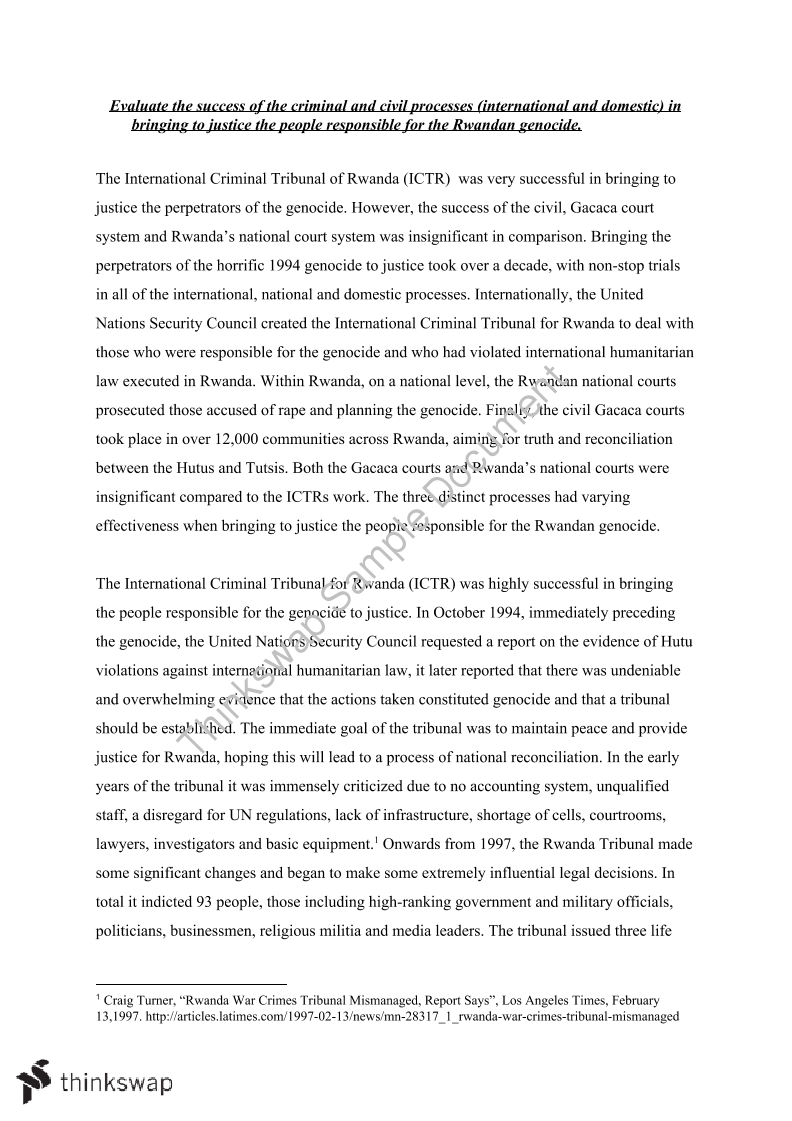 essay about the genocide in rwanda