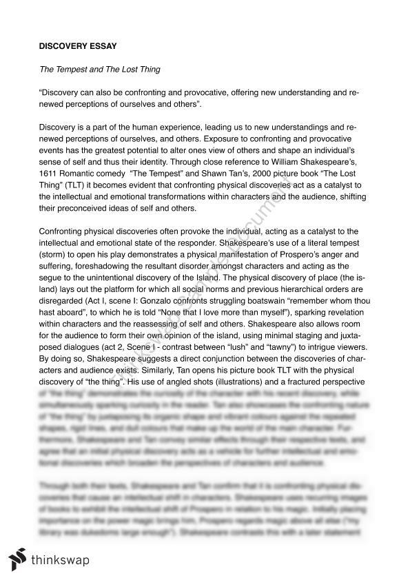tempest essay year hsc english advanced thinkswap tempest essay