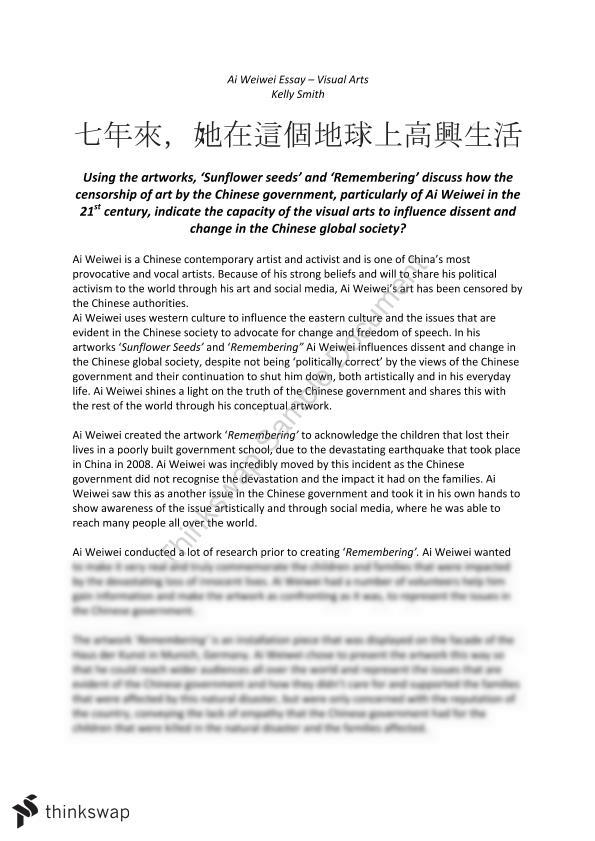 chinese influence on your culture essay