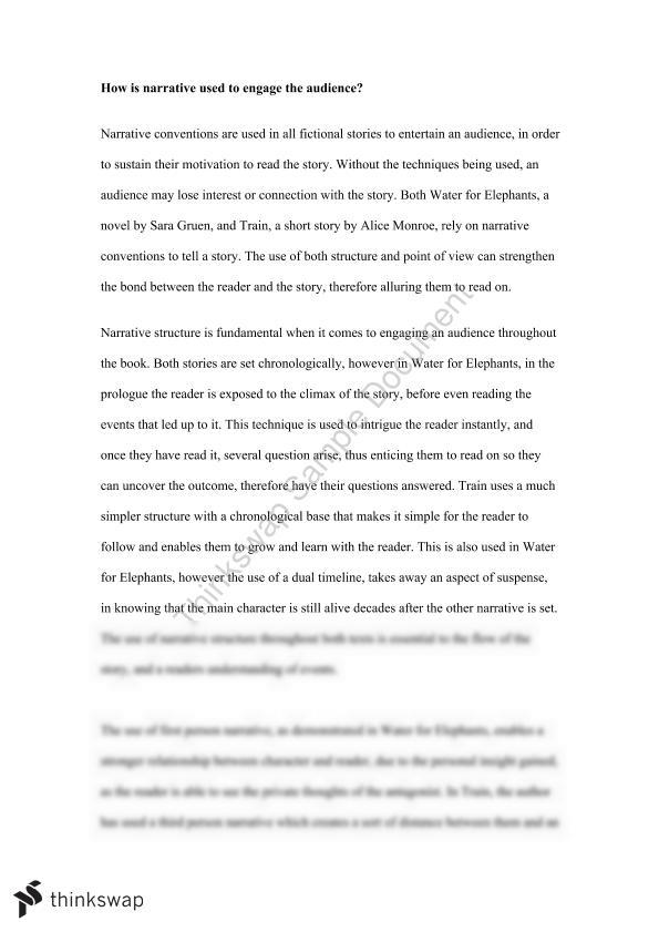 Short Essay on Water for Elephants with Related Text