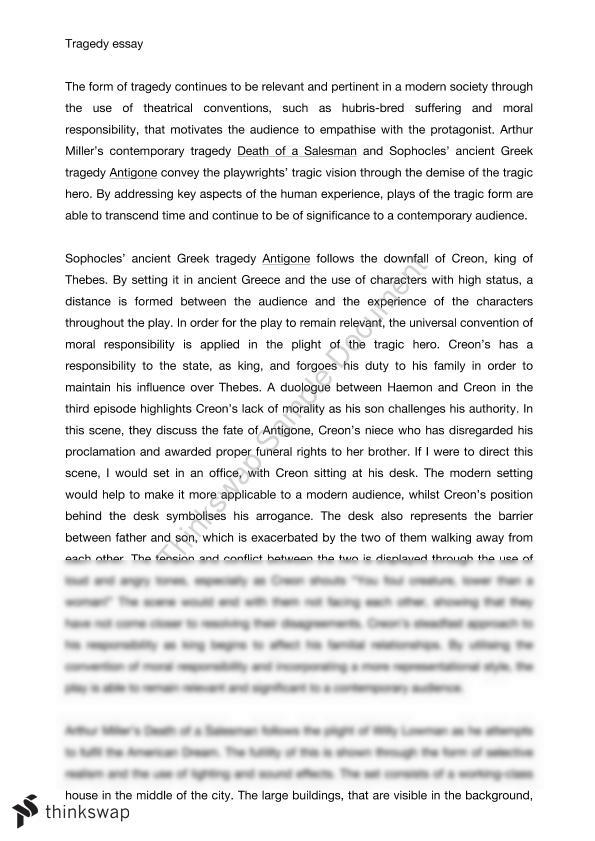 tragedy essay year hsc drama thinkswap tragedy essay