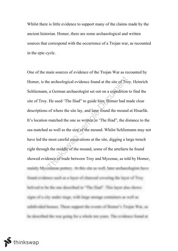 Essay On The Trojan War  Year  Hsc  Ancient History  Thinkswap Essay On The Trojan War