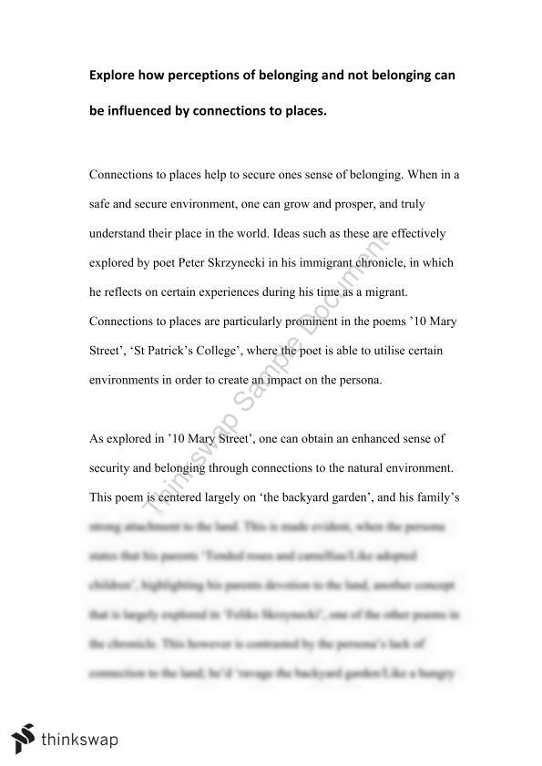 (Not) Belonging Essay or dissertation, Skrzynecki's Verses 'Migrant Hostel' as well as 'Feliks Skrzynecki'