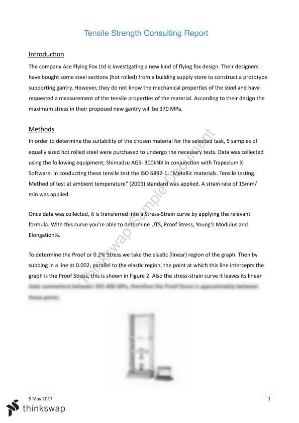 Tensile Testing Case Study - Page 1