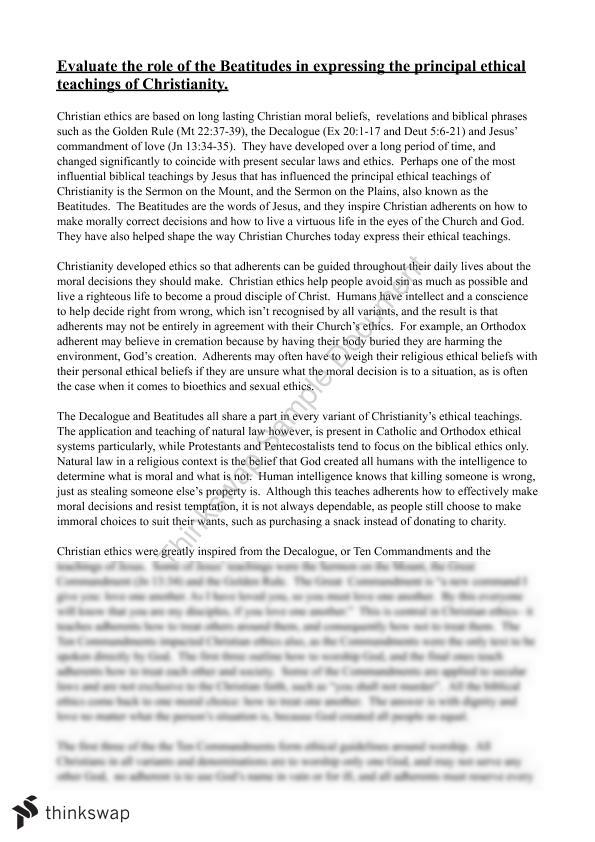 christianity essay the beatitudes year hsc studies of  christianity essay the beatitudes