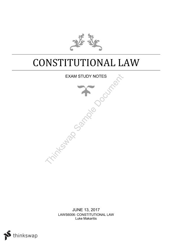 constitutional law notes Master the foundations of the us constitution and study its subsequent  interpretation by the us supreme court with hslda online academy.