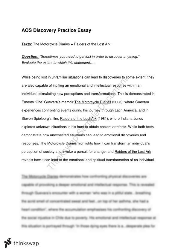 Pygmalion Essay Aos Discovery Essay Example Proposal Essay also Essay On Growing Up Aos Discovery Essay  Year  Hsc  English Advanced  Thinkswap How To Write A Narrative Essay Examples