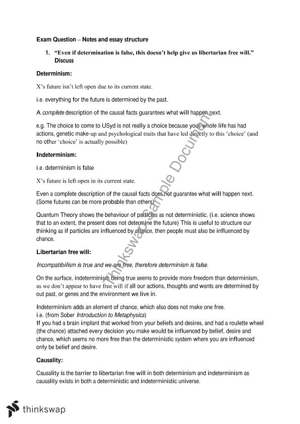 Reality Exam Questions Essay Notes and Structure 2013