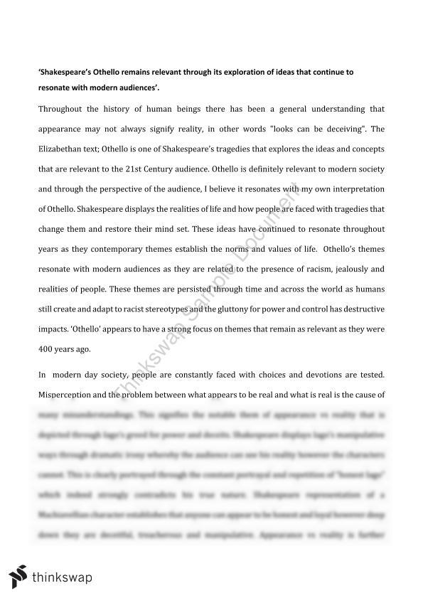 racism in othello essay conclusion