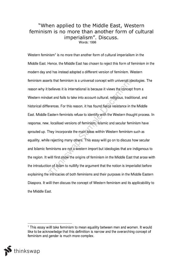 Proposal Essay Topics Examples When Applied To The Middle East Western Feminism Is No More Than Another  Form Of Essays In English also Written Essay Papers When Applied To The Middle East Western Feminism Is No More Than  English Essay Sample
