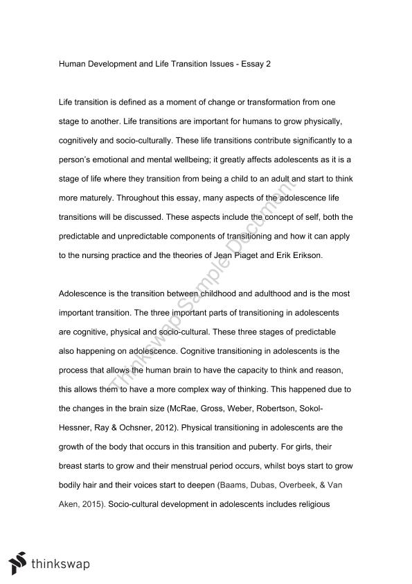 physical development observation essay