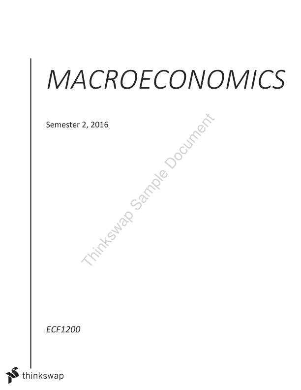 Macroeconomics Notes - Weeks 4 and 5