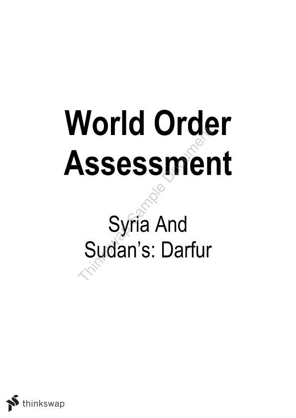 World order essay