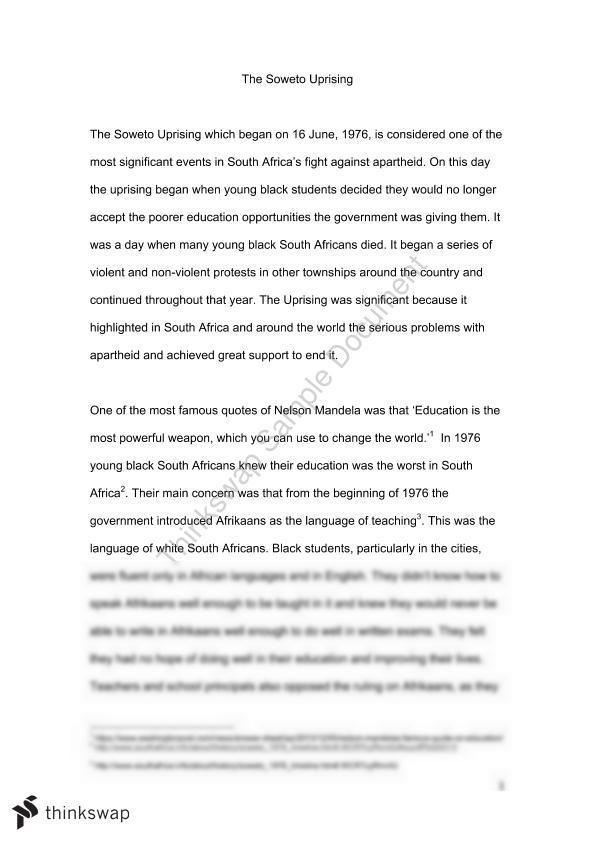 nelson mandela essay introduction