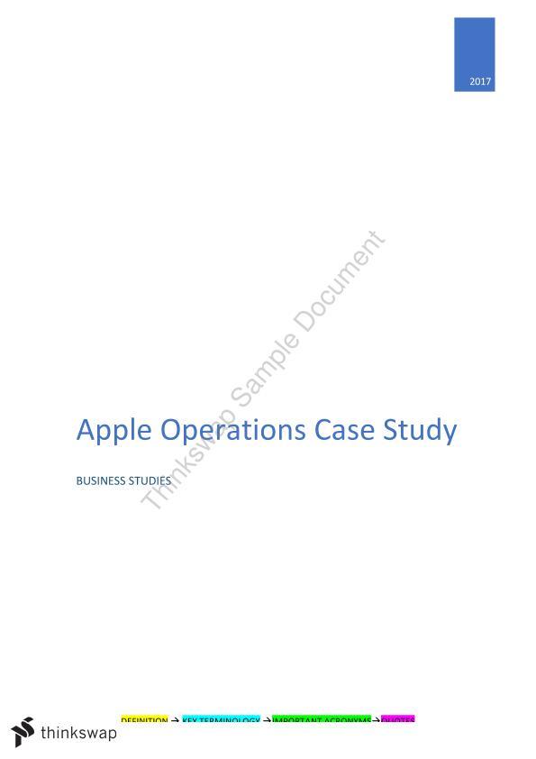 apple case study business studies