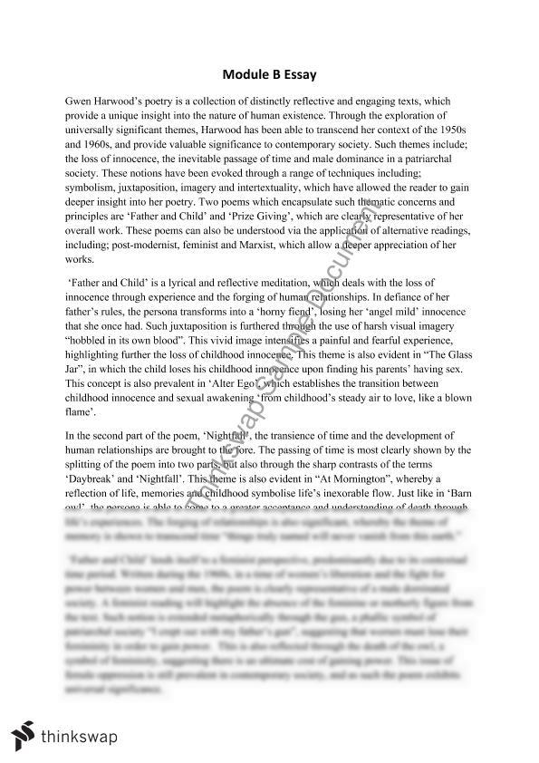 English Literature Essay Questions Module B Essay  Poetry Persuasive Essay Thesis Statement also Business Communication Essay Module B Essay  Poetry  Year  Hsc  English Advanced  Thinkswap Synthesis Essay Ideas