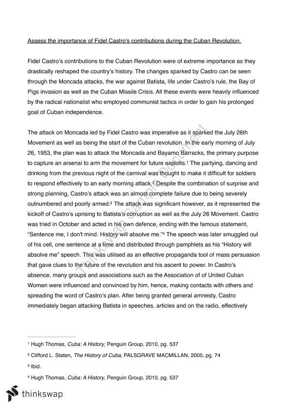 Sample Apa Essay Paper Modern History Fidel Castro Essay Health Insurance Essay also Fifth Business Essay Modern History Fidel Castro Essay  Year  Hsc  Modern History  Science Essay Topic