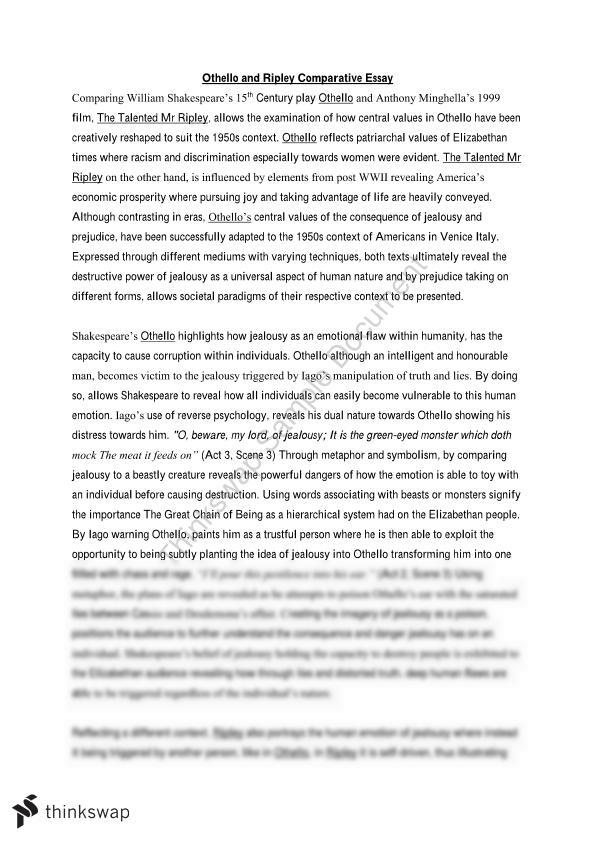 1950 comparative essay