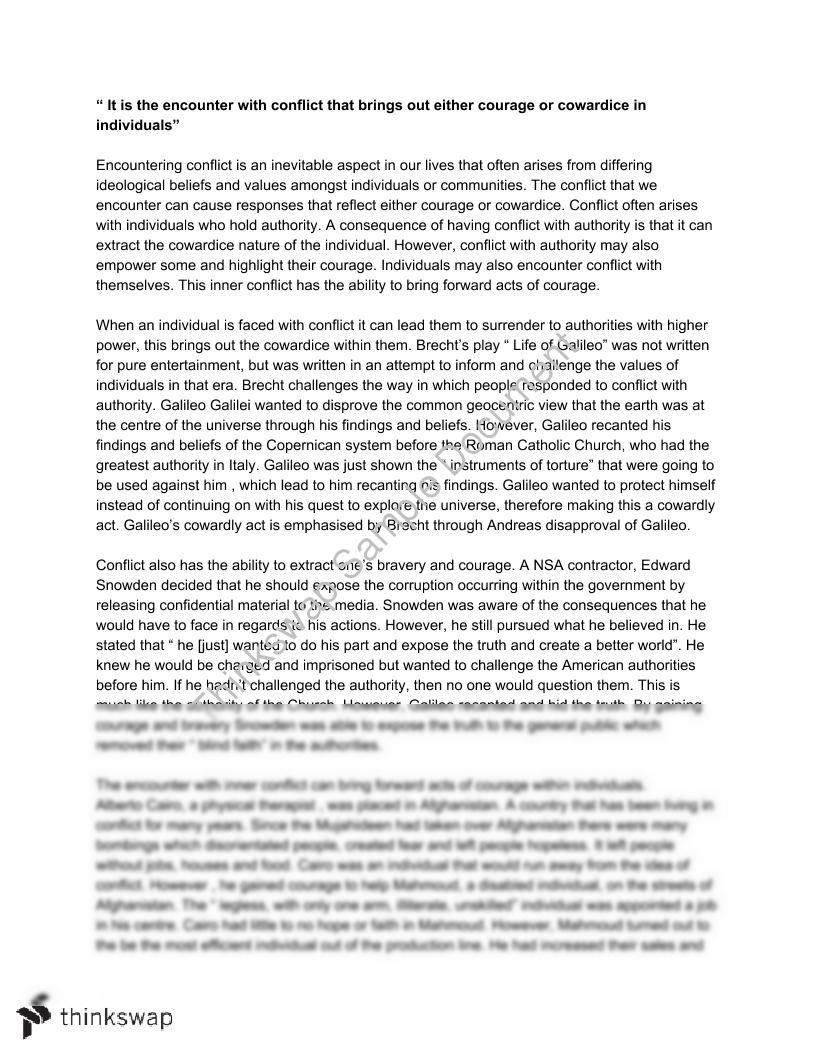 Learning English Essay Example Essay On Conflict How To Write An Essay In High School also English Essay Sample Essay On Conflict  Year  Vce  English  Thinkswap Science Essay Ideas